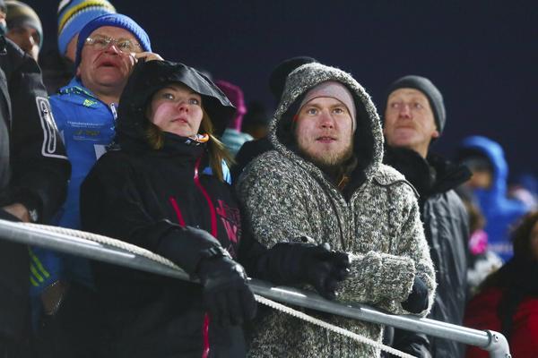 Publik på Östersunds skidstadion.