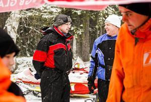 Stefan Norin, ordförande i Ljusdals skoterklubb, samt Leif Ljus, vice ordförande, har ordnat skoterträffen tillsammans med Järvsös och Delsbos skoterklubbar.