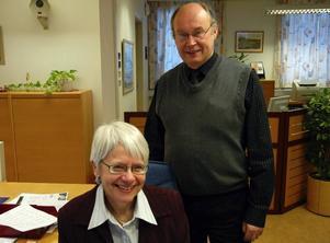 Trotjänare. Birgitta Magnusson och Hans Eskilsson, två trotjänare på Handelsbanken i Säter, går nu i pension.