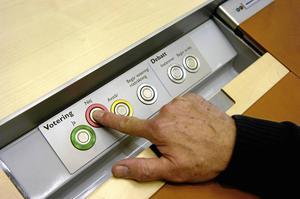 I Sveriges högst beslutande organ, riksdagen, har varje ledamot möjlighet att rösta för eller emot lagda förslag.