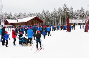Foto. Johan Trygg.Det blev en välbesökt invigning av Vasaloppsarenan på lördagen.