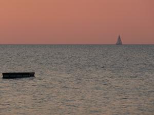 En underbar solnedgång en varm kväll i juli.