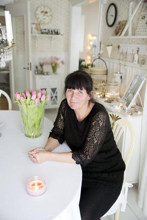 Kök i förändring. Annelie Gutenberg i köket, som familjen har planer på att bygga ut.