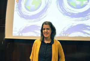 Elin Sjökvist från SMHI var en av flera föreläsare som deltog under klimatkonferensen som hölls på Clarion i måndags.
