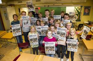 Klass 4-6 på Molidenskolan har under veckan läst Örnsköldsviks Allehanda varje dag och sedan diskuterat innehållet med varandra.