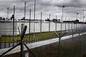 20-åringen, som avtjänar ett tio månader långt straff för personrån, försökte klättra över fängelsemuren i slutet av juli. Vid elstängslet blev det stopp. Sedan dess har ynglingen suttit isolerad.