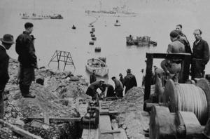 Så här såg det ut när Gotlandslänken lades ut 1954.