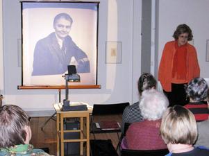 Föredrag. Ingrid Bergman berättade fängslande om Gerda Boëthius.