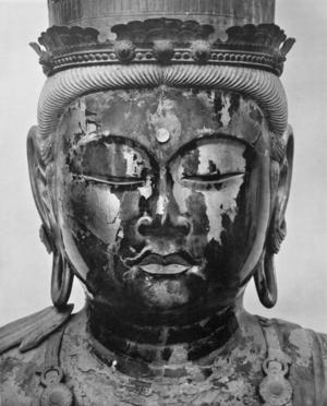 """Den japanske skulptören Unkei, verksam i början 1200-talet, har gjort en berömd skulptur av """"Daichini"""" (""""Den stora solen""""). Denne buddhistiska sol-buddah manifesteras också inom shintoismen som solgudinnan Amaterasu."""