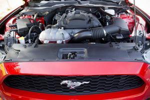 Under huven sitter en fyrcylindrig bensinmotor på 317 hästkrafter.