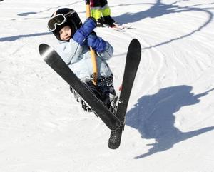En av nära 170 000 skidåkare som besökte Kungsberget i vintras.