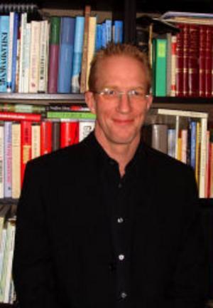 Mattias Fyhr forskar om skräck i litteratur, film, musik och rollspel.Foto: Jenny Ryltenius