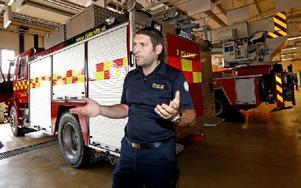 – Nu har alla utryckningsfordon bälten, säger Toni Todorovski, operativ chef i Räddningstjänsten DalaMItt. Foto: Johnny Fredborg