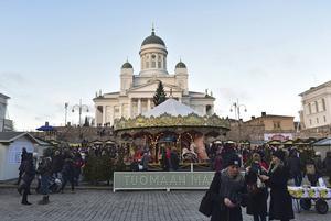 Tomasmarknaden är den mest populära julmarknaden i Helsingfors.   Foto: Anders Pihl