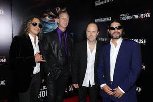 Metallica känner sig inspirerat av Occupyrörelsen. Från vänster: Kirk Hammett, James Hetfield, Lars Ulrich och Robert Trujillo.Foto: Eric Charbonneau/Invision for Picturehouse/AP/TT
