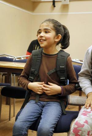 Mariam Hashemi tycker om att gå i skolan.