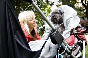 EGEN HEMSIDA. Det här är Anneli med hunden Fliza, som förutom en egen festvagn även har en hemsida: snabbfliza.zoomin.se.