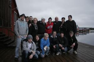 Erik Lannerbäck trivs med sitt arbete med ungdomar. Och ungdomarna från Bergsjö uppskattade hans besök i Mellanfjärden.