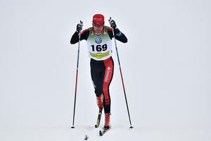 Johan Olsson på väg mot segern