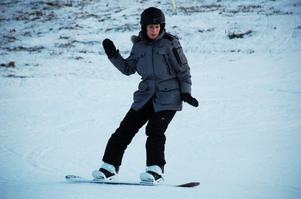 Snowboard, pulka, slalom och längdåkning. Entusiastiska skidåkare njöt av den snö Granberget kunde erbjuda.