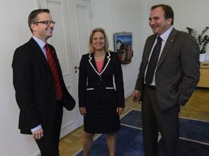 Mikael Damberg och Magdalena Andersson kommer att få svårt att få gehör för sin näringspolitik bland S traditionalister, trots stödet från Stefan Löfven.