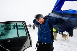 Peter Edelbrock från Krokom gör sitt första Amundsen race.