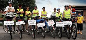 En del av gänget som cyklade för en cykelväg mellan Alfta och Edsbyn.