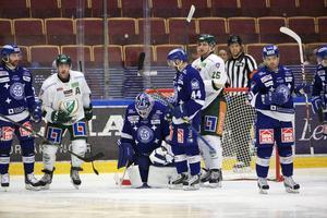 Daniel Josefsson, Oscar Alsenfelt, Mattias Guter, Kevin Kapstad och övriga Leksandsspelare hade en tung afton i Tegera arena.