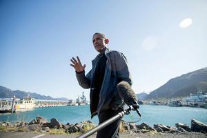 President Obama under sitt besök i Alaska där ett klimatmöte hölls och handlade om framtiden i Arktis.