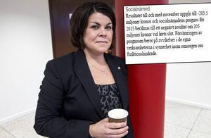 Malin Larsson är ordförande i socialnämnden.