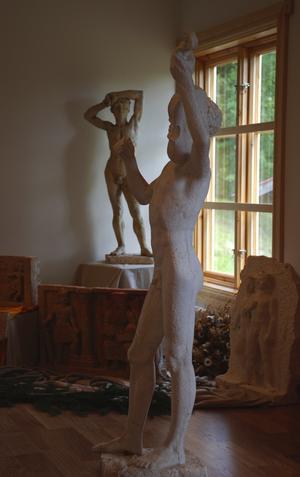 Konst. Några av de vackra skulpturerna som Erik Grate skapade under sin levnadstid. Foto:Göran Persson