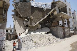 Förstörelsen är stor i Gaza efter krigen 2008, 2012 och 2014.