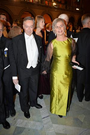 Journalisten Erik Fichtelius och Ulrika Beck Friis.