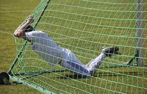 Mattias Larsson hade fina lägen att göra mål men han lyckades inte få in bollen i nät.