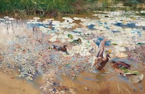 Änder av Bruno Liljefors är Sveriges dyraste målning. Den såldes på Bukowskis Klassiska auktion för 11,1 miljoner kronor.