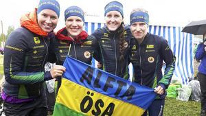Alftas vassa damer  nära toppen - igen. Från vänster: Josefin Engström, Galina Vinogradova, Sara Eskilsson och Natalia Gemperle fick nöja sig med en nog så stark sjätte plats i Venlakavlen.
