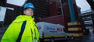 Daniel Peltonen, platschef på Hallsta pappersbruk.