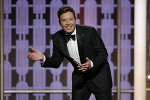 Jimmy Fallon, värd för den 74:e Golden Globe-galan.