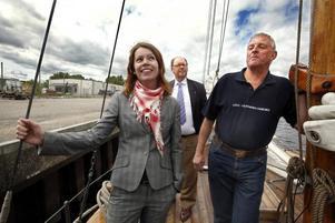 – För oss handlar det om att bygga varumärket Gävle, säger Anna Östman.Med på bilden från den 27 maj är också Leif Eriksson och Örjan Ohlström.