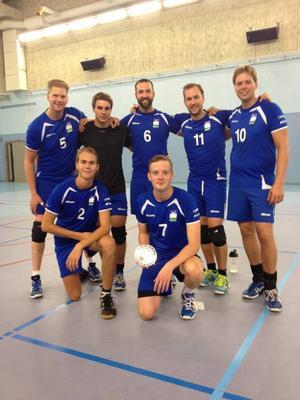 Här är Östersunds sju man starka lag i Uppsala Cup.Arkivbild