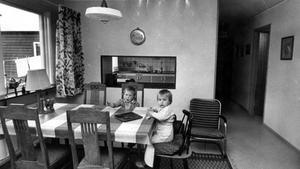 Allrum i ett Arosekenhus på Brandthovda. 26 maj 1965.