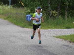 Ludvig Berg löpte 2 kilometer och placerade femma i sin klass.
