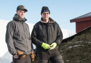 Niklas och Lasse Larsson, Jon-Jons Lantbruk, Växbo.