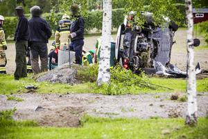 Olyckan inträffade 16 juni 2015 i Ångsäter mellan Ljusdal och Tallåsen.