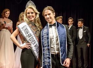 Miss world Sweden, Emma Strandberg, och Robin Mähler.