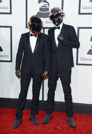 Daft Punk på röda mattan.