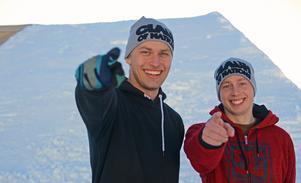 Marcus Dubois och Jim Johansson har, med hjälp av grävare och pistmaskin, konstruerat året freestylehopp.