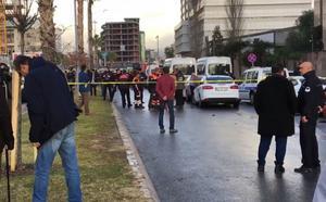 Bild från Izmir där explosionen ska ha ägt rum.