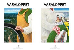 Vasaloppet/Anders Ståhl.Leksandskonstnären Anders Ståhls två vinnande bidrag