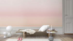 """Rosa. Skapa en illusion av ständig skymning med hjälp av färgnyanserna. Här i form av tapeten """"Skymning"""" från Sandberg."""